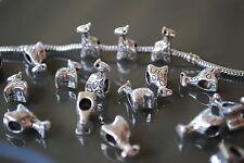 15 Charms para Pulsera Europea de Zamak, bisuteria, abalorios, attraits, charme