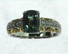 Alexandrite Natural Genuine Gemstone Diamond white Gold Diamond Ring RSS,313