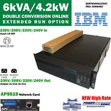 APC/IBM SURT6000XLIX547 Smart-UPS RT 6000VA 208V 220V 230V 240V AP9619 45W6465
