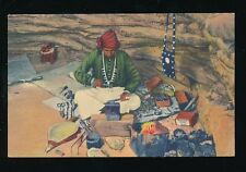 USA ethnic native Navajo Indian Silversmith at work PPC c1930s??