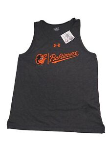 Men's UNDER ARMOUR SZ M / L / XL  Baltimore ORIOLES Sleeveless Tank Top MSRP$32