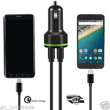 Qualcomm Quick Fast Charge 3.0 USB Type C Car Charger + Data USB Cable Durable