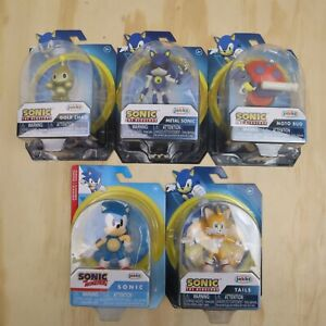 5 x 2021 Jakks Sonic The Hedgehog Small Action Figure - New - Sonic Chao Tails