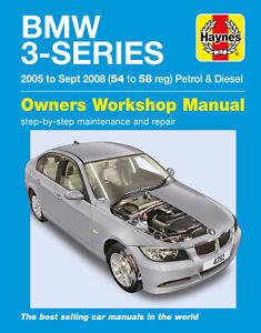 BMW 3-Series Petrol & Diesel (05 - Sept 08) Haynes Repair Manual