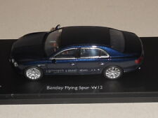 KYOSHO.KYO 05561PC.  BENTLEY FLYING SPUR W12 PEACOCK  DK BLUE.  stunning looking