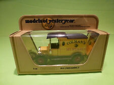 MATCHBOX YESTERYEAR Y-12 FORD MODEL T 1912 - MUSTARD - 1:35 - RARE SELTEN - NMIB