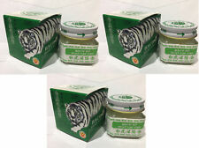 3 x WHITE TIGER BALM WOOD LOCK CREAM Medicated Balm Oil Pain Relief 20g