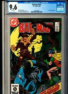 BATMAN 373 CGC 9.6 W pgs DC 1984 Scarecrow appearance
