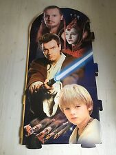 "STAR WARS GIANT DISPLAY EPISODE 1 ANAKIN, OBI , QUI, 40"" X 24"" RARE NICE !!"
