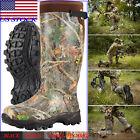 HISEA Men's Hunting Boots Waterproof & Insulated Neoprene Rubber Rain Snow Boots