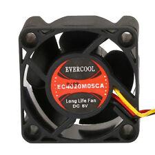 Evercool EC4020M05CA 40mm x 20mm DC 5 Volt Ball Bearing Cooling Fan 3 pin 3 wire