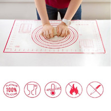 Large Non Stick Silicone Sheet Dough Fondant Rolling Mat Baking Pastry Icing UK