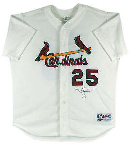 Cardinals Mark McGwire Signed White Rawlings Authentic Jersey BAS #BA75043
