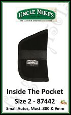 UNCLE MIKE'S Inside The Pocket Holster - Size 2 (Small Autos .380 & 9mm) - 87442
