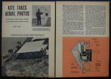 6' Camera Kite take KAP Aerial Photos 1954 E.J. Roy How-To build PLANS