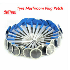 24Pcs Mushroom Patch 36mm Natural Rubber Tire Puncture Repair Wired Plug