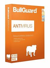 BullGuard Antivirus Protection 2018 - 12 Months - 3 User - for All Windows PC's