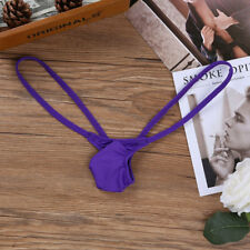 Sexy Men's Ultra-thin Ice Silk Briefs Thong Low Rise Bikini G-string Underwear