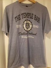 The Temple Bar Dublin, Ireland Heritage Collection Women's Blue Tee Sz L - Nwot
