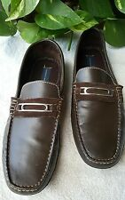 Giorgio Brutini Men's Tonik Slip-On Brown Leather Loafers Shoes Sz 12M     (A)
