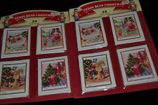 48 Vintage EUREKA TEDDY BEAR CHRISTMAS Gift Tags ROCKING HORSE TREE GIFTS NIP