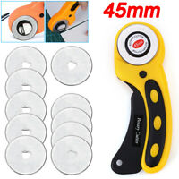 Quilters Fabric Leather Cutting Tool Set Rotary Cutter With 45mm Blade Sewing
