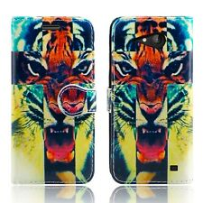 Microsoft LUMIA 535 550 650 Nokia 3 5 6 Leather Wallet Phone Fone Case Cover LUMIA 520 Roaring Tiger - Lion Roar Cross Union Jack Tiger