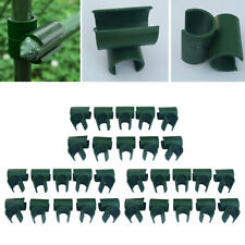 10x Garden Universal Clips Plant Stake Connectors Bracket Greenhouse Film Buckle
