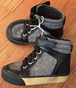 Toddler boy Herringbone High Top Shoes