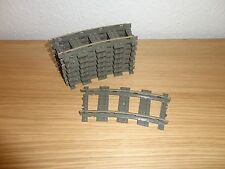 Lego - Eisenbahn - 9V Schienen - 8 x Kurve - Kurven - altgrau