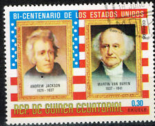 Equatorial Guinea Famous US Presidents Jackson and Van Buren  stamps 1972