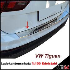 VW Tiguan Chrom Ladekantenschutz aus V2A Edelstahl mit Abkantung ab 2016