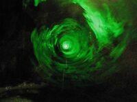 HALLOWEEN VORTEX TUNNEL PORTAL PROP GREEN & RED LASER SPIRIT FOG MACHINE EFFECT