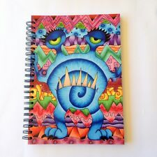 Lge Drawing / Sketch book - aprox 100 sheets recycled paper -monster psychedelic