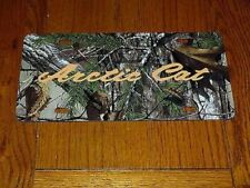 "Vintage Snowmobile Arctic Cat Camo ""Script"" Novelty License Plate"