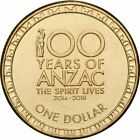 """2016 """" 100 YEARS OF ANZAC """" $1 Dollar UNC From MINT BAG"""
