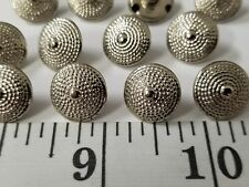 New listing 00006000  Vintage Buttons Set Of 12 Silver Metal Design Tuz1457