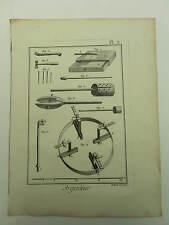 Encyclopédie Panckoucke Argenteur 2 planches simples originales 1783 complet