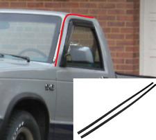 Pair Upper Door Seals Rubber Weatherstrip Gasket Kit for 1982-93 Chevy S10 Truck