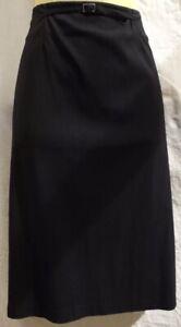 Cue Black Office Skirt Size 8 Pin Stripe