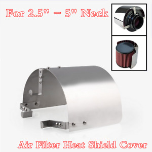 """Stainless Steel Heat Shield Cover Kit For 2.5'' - 5"""" Cone Cold Air Intake Filter"""