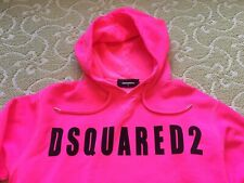 DSQUARED2 Mens Logo Hoodie Pink Made In Italy Size Small S Retail $555 New
