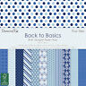 "Back to Básico 8"" x 8"" Azul Skies 48 lámina Pack para tarjetas y manualidades"