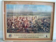 "Famous Print: ""Custer's Last Fight"" Anheuser Busch Brewing Excellent 31.5"" x 25"""