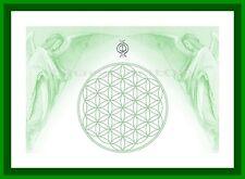 Energie Bild - Schwingungsbild - Die Blume des Lebens mit Erzengel Raphael