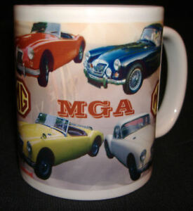 MGA SPORTS CAR CLASSIC CAR MUG. LIMITED EDITION. MG A. PERSONALISE WITH YOUR REG