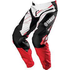NEW ONE INDUSTRIES RED CARBON YAMAHA   ATV  MX BMX RACING PANTS  size 30