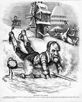 UNITED STATES POST-OFFICE HISTORY MEXICAN DON QUIXOTE DEAD HORSE BY THOMAS NAST
