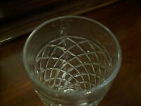 Waterford Waffle Pattern Tumbler Anchor Hocking Vintage Crystal Footed