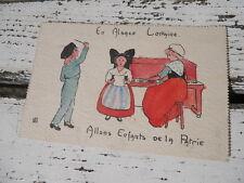 CPA soutien pour Militaire troupes en campagne , en Alsace Lorraine , Allons....